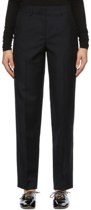 Loewe Navy Wool Tapered Trousers