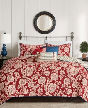 Madison Home USA Lucy 6-Pc. King/California King Cotton Twill Reversible Coverlet Set