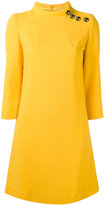 Goat buttoned high neck dress - women - Polyester/Acetate/Wool - 6