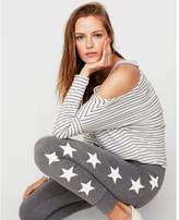 Express star marled stretch terry leggings