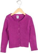 Petit Bateau Girls' Knit Button-Up Cardigan