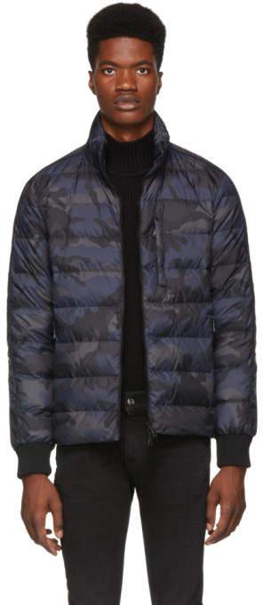 Valentino Navy Camo Down Jacket
