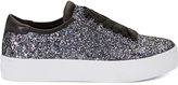Rebecca Minkoff Saxon Sneaker - Silver Glitter 9 Size