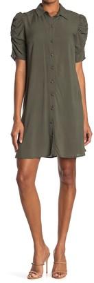 MSK Challis Woven Shirt Dress