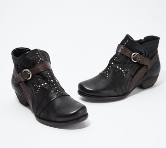 Miz Mooz Leather Buckle Ankle Boots - Marnie