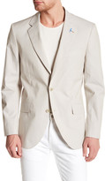 Tailorbyrd Beige Pinstripe Two Button Notch Lapel Sport Coat