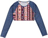 Seafolly Friends Fiesta Crop Longsleeved Rash Vest