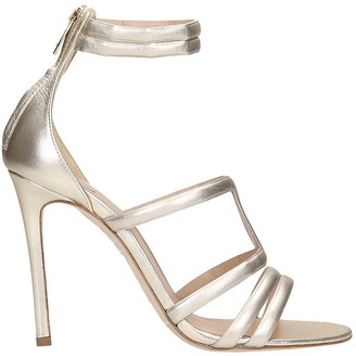 The Seller Sandals In Gold Leather