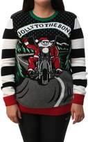 Ugy Christmas Sweater Pus Size Women'sEDight Up Joy To The Bone Sweatshirt