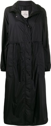 Moncler long hooded coat