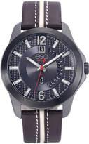 ESQ Mens Brown Strap Watch-37esq009301a