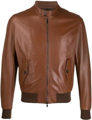 Tagliatore Leather Bomber Jacket