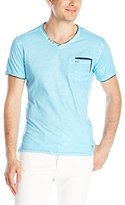 ProjekRaw Projek Raw Men's V-Neck Offset Short Sleeve Pocket T-Shirt