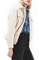 Topshop Women's Borg Western Denim Jacket