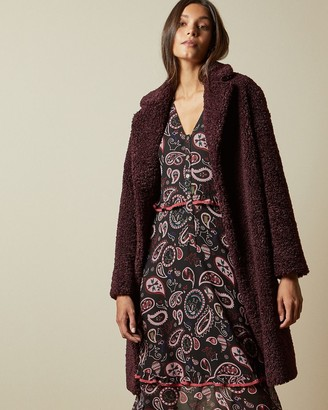 Ted Baker Long Drop Shoulder Button Coat