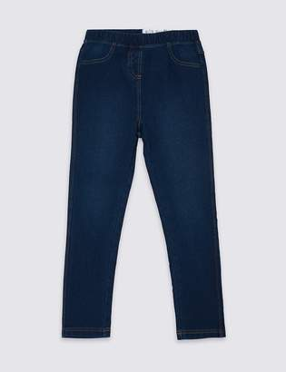 Marks and Spencer Denim Look Elasticated Waist Jeggings (18 Months - 16 Years)