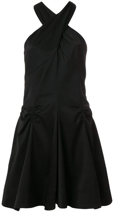 Carven ruched detail halterneck dress