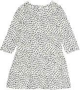 Bonpoint Long-Sleeve Heart-Print Dress, Size 3-8