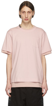 Sacai Pink Cotton T-Shirt