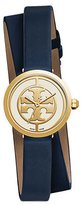 Tory Burch 38mm Reva Double-Wrap Leather Strap Watch, Tory Navy