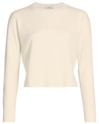 Co Essentials Cropped Wool & Cashmere Knit Sweater