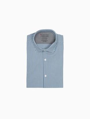 Calvin Klein Extra Slim Fit Check Temperature Regulation Dress Shirt
