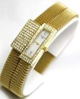 Tissot Watches Belflower Set (Watch and Bracelet) in 18K Gold Flexible Adjustable Women's Watch