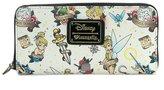 Loungefly Disney Tinkerbell Peter Pan Fairy Tattoo Flash Vegan Zip Around Wallet