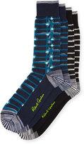 Robert Graham Two-Pair Grid-Print Sock Set