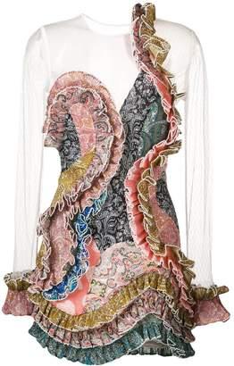 Zimmermann Paisley Ruffled Dress