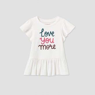 Cat & Jack Toddler Girls' 'Love You More' Short Sleeve T-Shirt - Cat & JackTM