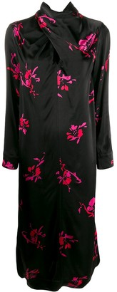 Ganni floral shift dress