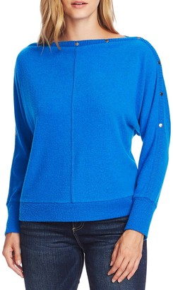 Vince Camuto Snap Trim Dolman Sleeve Sweater
