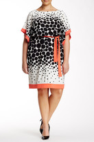 Sandra Darren Dotted Dress (Plus Size)