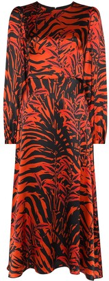 Borgo de Nor Elitsa tiger-print midi dress