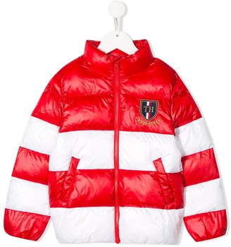Tommy Hilfiger Junior Two-Tone Panelled Down Jacket