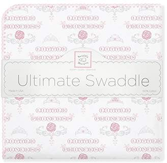 Swaddle Designs Ultimate Winter Swaddle, X-Large Receiving Blanket, Made in USA, Premium Cotton Flannel, Pastel Pink Little Princess (Mom's Choice Award Winner)