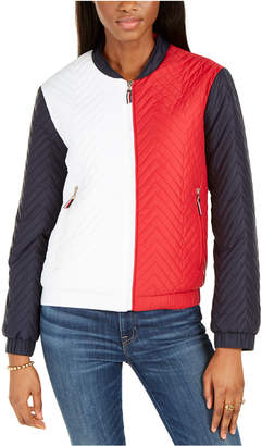Tommy Hilfiger Colorblocked Bomber Jacket