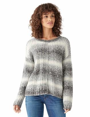 Lucky Brand Women's Long Sleeve Crew Neck Relaxed Spacedye Sweater