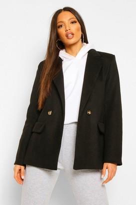 boohoo Tall Blazer Style Wool Look Coat