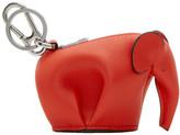 Loewe Red Elephant Charm Keychain