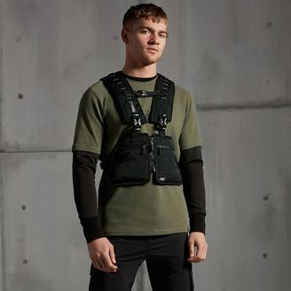 River Island Concept khaki compass slim fit T-shirt