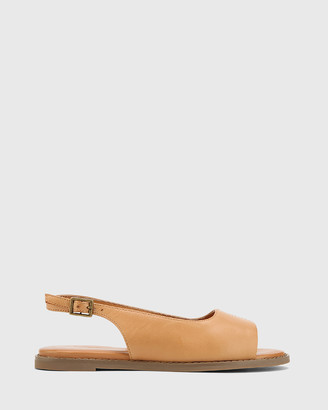 Wittner - Women's Brown Flats - Jinda Leather Open Toe Slingback Flat Sandals - Size One Size, 36 at The Iconic