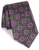 Nordstrom 'City Diamond Neat' Square Medallion Silk Tie
