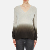 Theory Women's Adrianna Cashmere Jumper Soft Grey/Moss