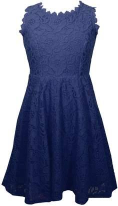 Bonnie Jean Girls 7-16 Sleeveless Lace Skater Dress