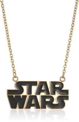 "Star Wars Jewelry Logo Stainless Steel Gold-Plated Pendant Necklace 18.5"" (SALES1SWMD)"