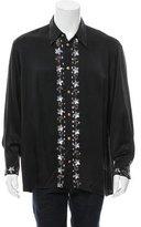 Versace Silk Sequined Shirt