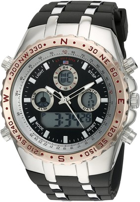 U.S. Polo Assn. Sport Men's Quartz Metal and Rubber Casual Watch