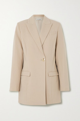 ANNA QUAN Sienna Double-breasted Twill Blazer - Sand